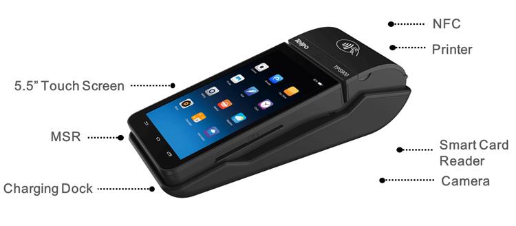 Telpo-Telpo Best Efd Pos Terminal With Charging Docker Portable Eftpos-7