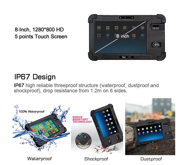 Telpo-Best 8-inch Protable Biometrics Iris Scanner Device Tps450 - Telpo-2
