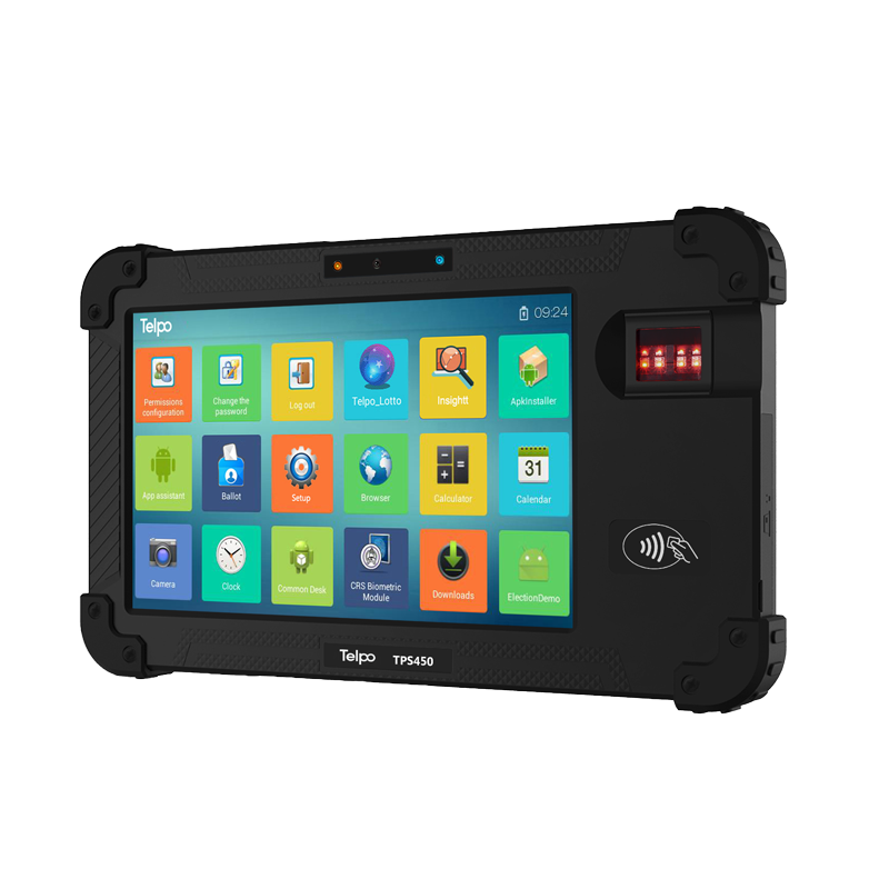 8-Inch Handheld Android Biometric PDA POS TPS450
