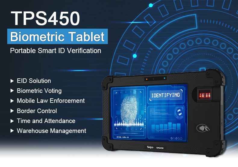 Telpo-Best 8-inch Protable Biometrics Iris Scanner Device Tps450 - Telpo