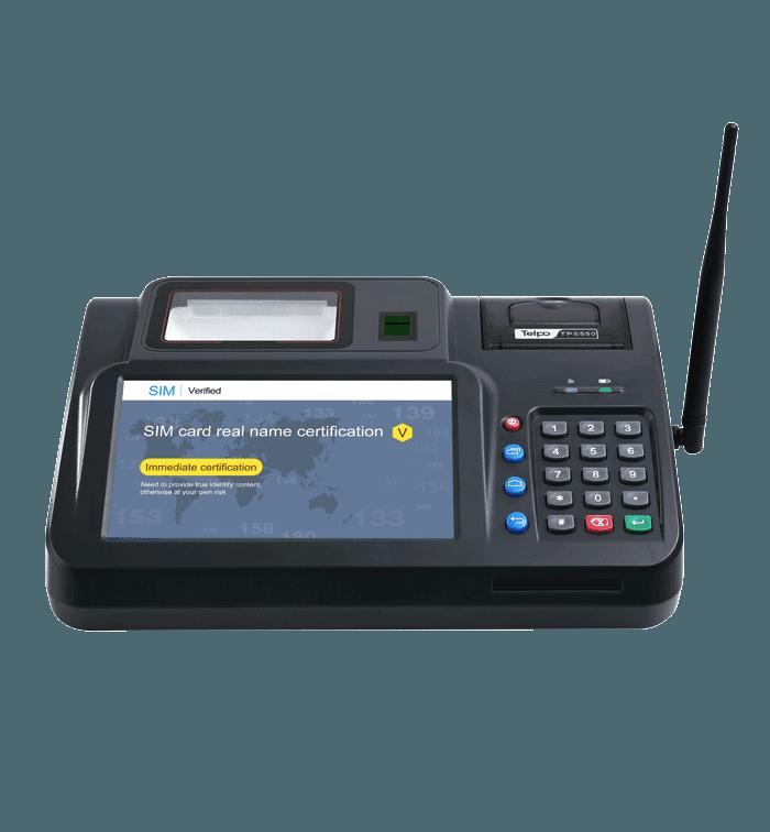 Desktop Barcode Scanner POS Machine with keypad antenna TPS550
