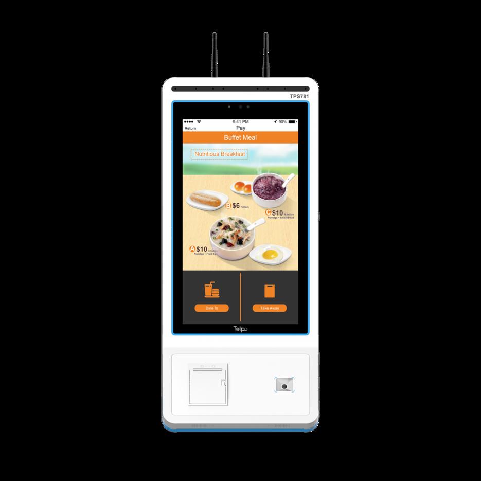 Fast Food Restuarant Self-Ordering Kiosk Machine Telpo  TPS781