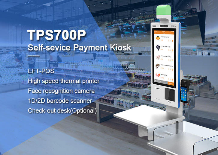 Telpo Touch Screen Self Service Kiosk TPS700P For Catering And Retail