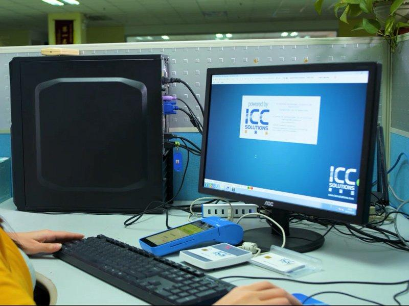 Quality inspection IC ICC contact emv test