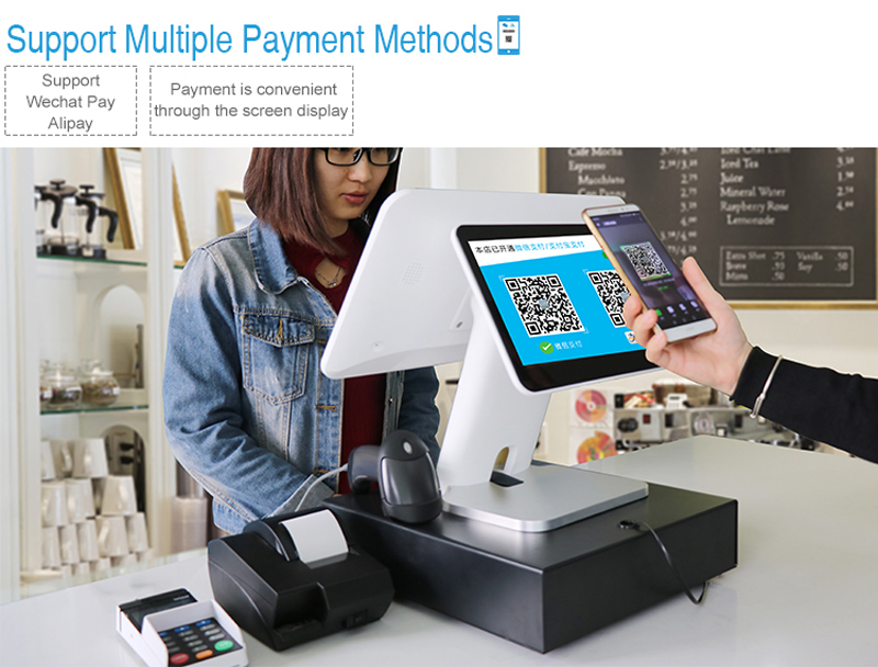 Telpo-Simple Dual Screen 5th Generation Android Cash Register Tps680-5