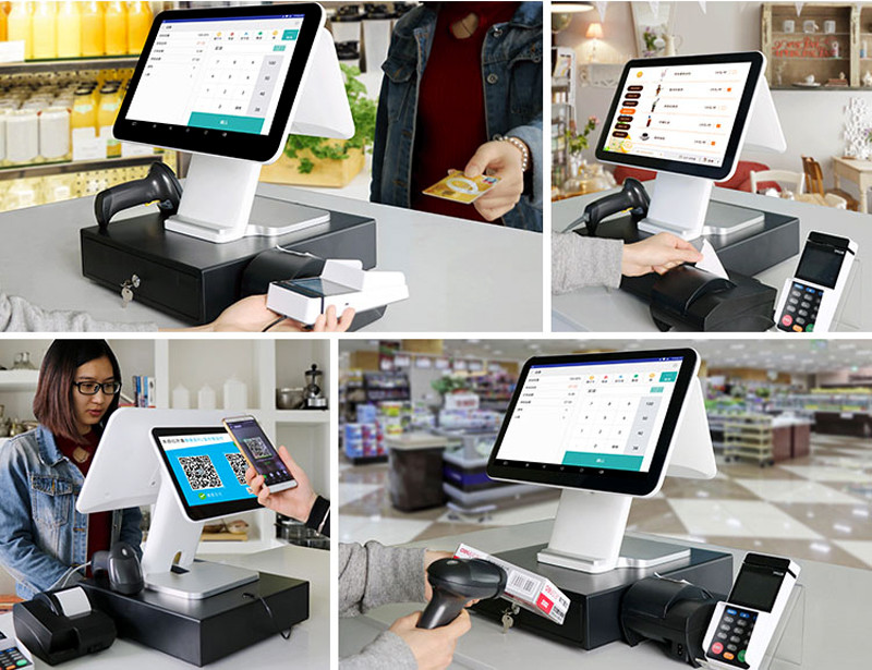 Telpo-Simple Dual Screen 5th Generation Android Cash Register Tps680-6