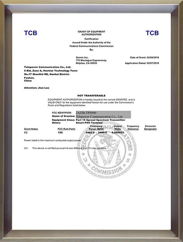 FCC-(TPS900)